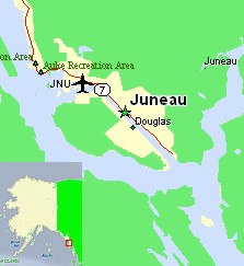 Capital Alaska Juneau Map